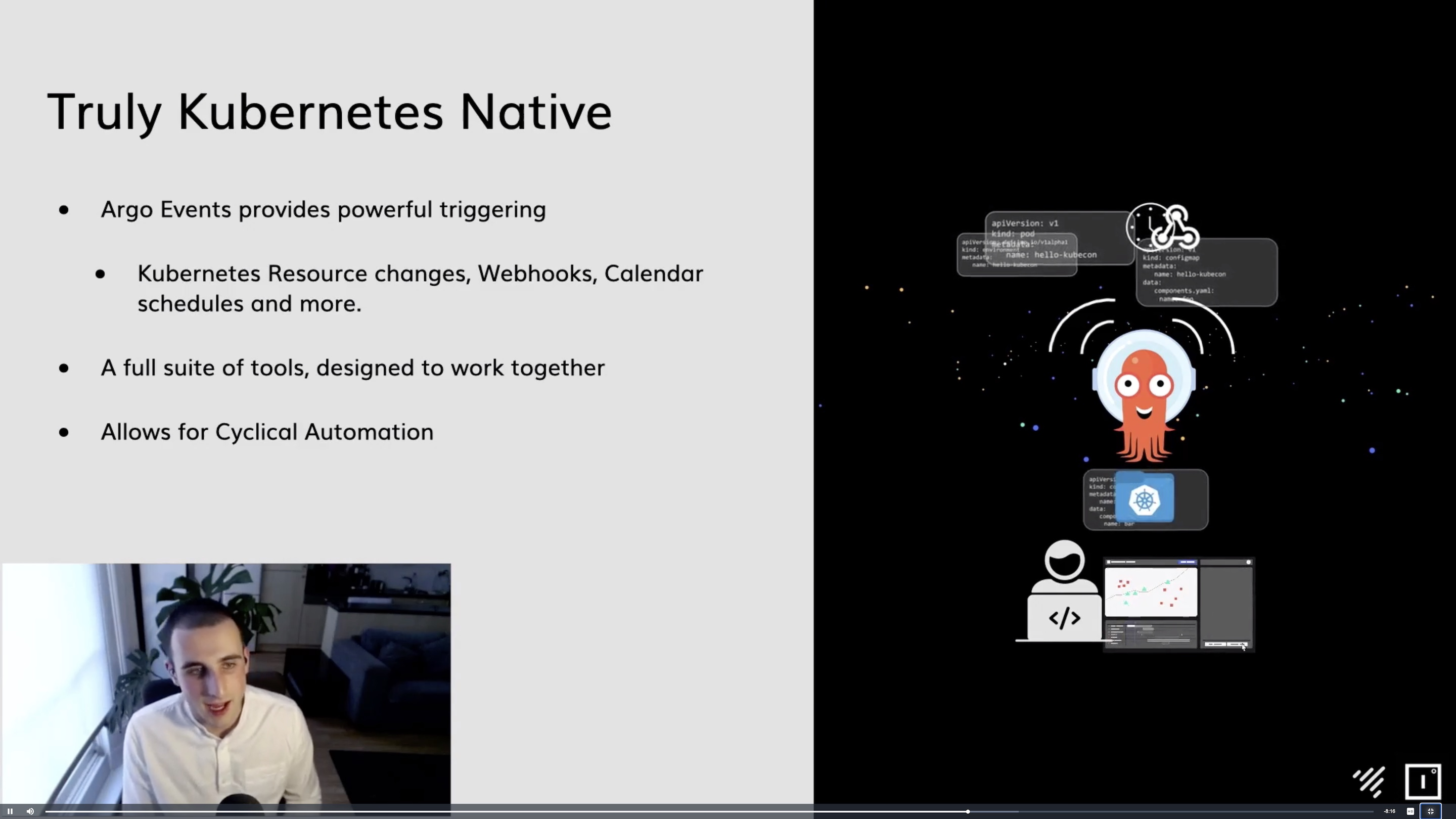 KubeCon + CloudNativeCon Europe 2021 - Building a Portable Kubernetes Deployment Pipeline with Argo Workflows and Events - Thomas Meadows, Jetstack & Ollie Young, Improbable